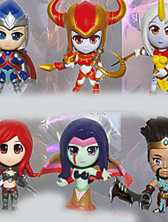 Cartoon Doll _ Hero Alliance 8 Generation 6 Version of A Full Set of Nadelaiwen Dragon Set 6PC 10cm
