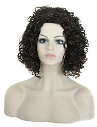 17 Inch Synthetic Short Curly Wig Heat Resistant African American Short Kinky Curly Wigs