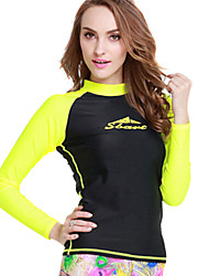 ультрафиолетовое resinstant вершины погружения шкур для женщин Chinlon длинным рукавом