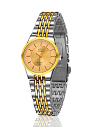 Women's Gold Steel Band Anlog Quartz Japan PC Dress Watch Jewelry Cool Watches Unique Watches