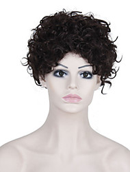 12 Inch Synthetic Short Medium Brown Curly Wig Heat Resistant African Wigs