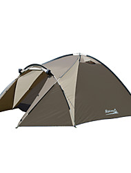 Makino 3-4 persons Tent Triple Camping Tent Family Camping Tents Well-ventilated Quick Dry Windproof Rain-Proof Anti-Insect Breathability