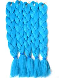 Blu box Trecce Jumbo Extensions per i capelli 24inch Kanekalon 3 filo 80-100g/pcs grammo capelli Trecce