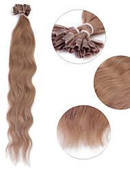 """neitsi 20 """"1 г / с кератином слияние у прибить наконечник естественная волна 100% человеческих волос расширения 10 #"""