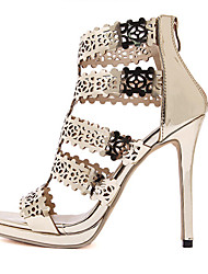 Women's Shoes Leatherette Stiletto Heel  Open Toe Sandals Party & Evening / Dress Gold