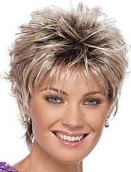 Sliver and Gray Ombre African American Synthetic Women Short Wavy Hair Wigs