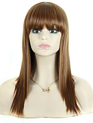 Reasonable In Price Extensions Women Lady Charming Style Brown Color Synthetic Wigs