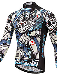 XINTOWN® Cycling Jersey Men's Long Sleeve Bike Breathable / Quick Dry / Ultraviolet Resistant / Limits Bacteria Jersey / TopsElastane /