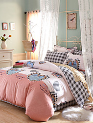 Hot sale 100% Cotton Bedclothes 4pcs Bedding Set Queen Size Duvet Cover Set