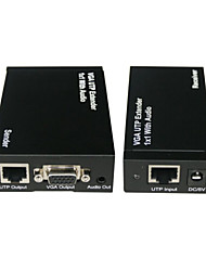 300m VGA UTP Extender 1x1 Splitter with Audio Output VGA Repeater