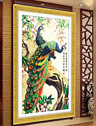 DIY 5D Diamond Painting Cross Stitch Round Embroidery Peacock wealth and good fortune  Mosaic Home Decor