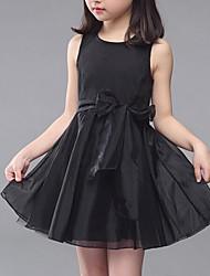 Vestido Chica de-Verano-Algodón-Negro / Blanco / Gris