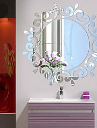 Botanique / Romance / Miroir / Mode / Floral / Forme / Vintage / 3D Stickers muraux Stickers muraux 3D,Acrylic crystal 46*46CM