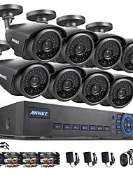 ANNKE® 8CH AHD-L DVR eCloud HDMI 1080P/VGA/BNC Output  8pcs 900TVL CMOS 42LEDS Day/Night IR-cut Cameras IP66