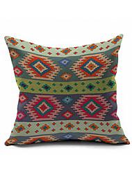 Cotton/Linen Pillow Cover , Nature Modern/Contemporary  Blanket Pattern Pillow Linen Cushion