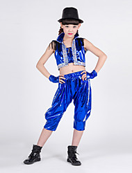 Jazz Children's Fashion Performance Spandex Sequins 3 Pieces Outfits
