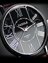 2016 Unisex's  YAZOLE Watch Quartz Waterproof Sports Watch Blue Gems Dial Leather Dress Watch(Assorted Color)