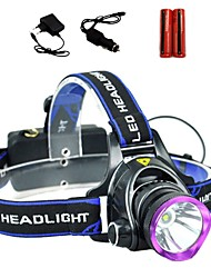 Lights Headlamps LED 2000 Lumens 3 Mode Cree XM-L T6 18650Adjustable Focus / Waterproof / Rechargeable / Impact Resistant / High Power /