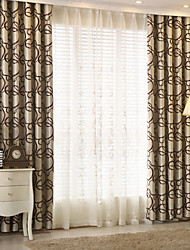 Two Panel Europe Contracted Fashion Style Of Children Room Sitting Room Bedroom Jacquard Curtains