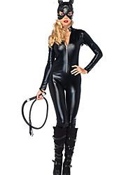 Costumes de Cosplay / Costume de Soirée Animal Fête / Célébration Déguisement Halloween Noir Couleur Pleine Collant/CombinaisonHalloween