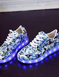 niños 'zapatos de cuero sintético llevó a zapatillas de deporte al aire libre / ocasional azul / rosa / gris / azul real
