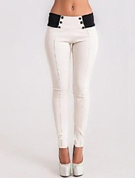 Women's Color Block Slim Fashion All Match Skinny Pencil Pants,Work / Casual / Day
