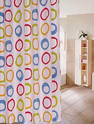 Starfish Yellow Waterproof Polyester Shower Curtain 180X200