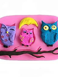 diy hibou animal moule gâteau de chocolat fondant de silicone, des outils de décoration bakeware sm-452