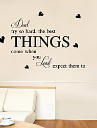 Inspirational Wall Quotes Try So Hard The Best Thing Come Living Room Home Decoration Wall Stickers Home Decor Decals