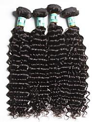 "4pcs / lot 8 ""-26"" 5a brasilianisches reines Haar tiefe Welle Menschenhaarverlängerungen 100% unverarbeitetes brasilianisches remy Haar"