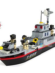 plastica nave da guerra ragazzi di hobby blocchi minifigures costruzione di modelli in legno per bambini giocattoli educativi lotta al