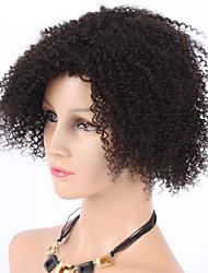 """8 """"moda de verano cortos rizado rizado virgen europeo de la prensa hechas pelucas para las mujeres negras"""