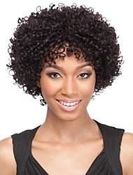 Fashion Afro Kinky Curly Natural Color 100% Brazilian Human Hair Wig Lace Front Wigs