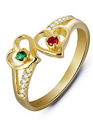 925 Sterling Silver Women Jewelry Fashion High Quality 18k Gold Plated Rings with Cubic Zirconia Perfect Gift For Girls
