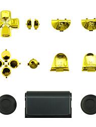 Ersatz-Controller Fall für PS4-Steuerung PS4 Fall Plattierung golden / silber