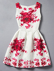 Girl's Cotton Spring And Summer Print Tank Top Dress