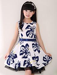 Mädchen Kleid-Polyester Ganzjährig Weiß