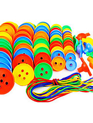 Buttons Beaded Blocks To Hold The Threading Educational Toys