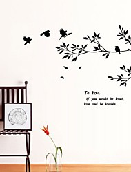 Black Bird Tree Branch Wall Stickers Wall Decal Removable Art Home Mural Decor Decoration