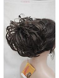 "Brown Dome Wiglet Drawstring Ponytail 6"" Bun Cover Hair Pieces E-KELLI 6"