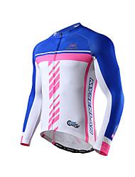 MYSENLAN Bicicleta/Ciclismo Camiseta/Maillot / Tops Hombres Mangas largas Transpirable / Materiales Ligeros Poliéster / TerilenoClásico /