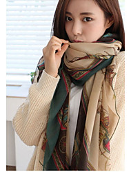 Korean Version Of The National Wind Cotton Green Voile Printing Scarf Shawl Scarves