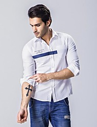 Men's Long Sleeve Shirt,Cotton Casual Striped