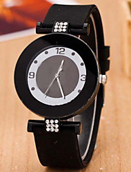 L.WEST Ladies' Silicone Diamonds Quartz Watch