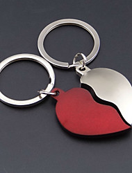 A Pair Creative Valentine'S Day Gifts Red Heart-Shaped Couples Are Key Automotive Metal Keychains