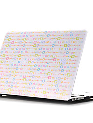 "Case for Macbook Air 11.6""/13.3"" Geometric Pattern Plastic Material Colored Drawing~7 Style Flat Shell"