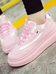 Women's Shoes Fabric Flat Heel Round Toe Athletic Shoes Outdoor / Athletic / Casual Black / Pink / White