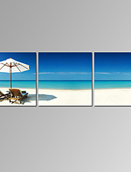 VISUAL STAR®3 Panel Seascape Canvas Prints Home Decoration Beach Scenery Wall Art Ready to Hang