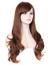 Hot Sale European Lady Brown Color Synthetic Wig