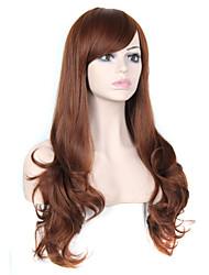dama europea peluca sintética de color marrón caliente de la venta